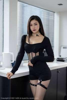 典雅服饰性感内衣极致魅惑写真气质美女黑丝裤袜